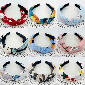 New Flower Headbands For Women Hair Hoop Knot Turban Headband Elastic Hairband Hair Accessories for Girls No Slip Stay