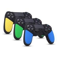 Нескользящая поверхность Дизайн резиновая Прочная кожа Кремния Чехол геймпад Защита кожи для Playstation 4 для PS4 Для dualShock 4