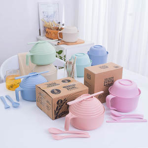 Tableware Bowl Dinnerware-Set Dishes Salad-Sauce Plastic Kitchen Cup Jam 5pcs 2 3DCJY29