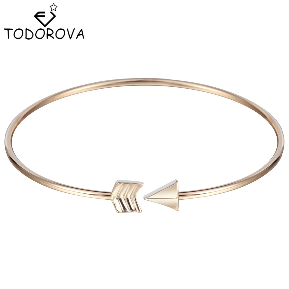 Todorova Romantic Cupid s Arrow Girls font b Bracelets b font Bangle Silver font b Gold
