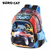 New 2018 Car Schoolbags Kids Satchel Child School Backpack EVA Racing Cartoon Folded Orthopedic Children School