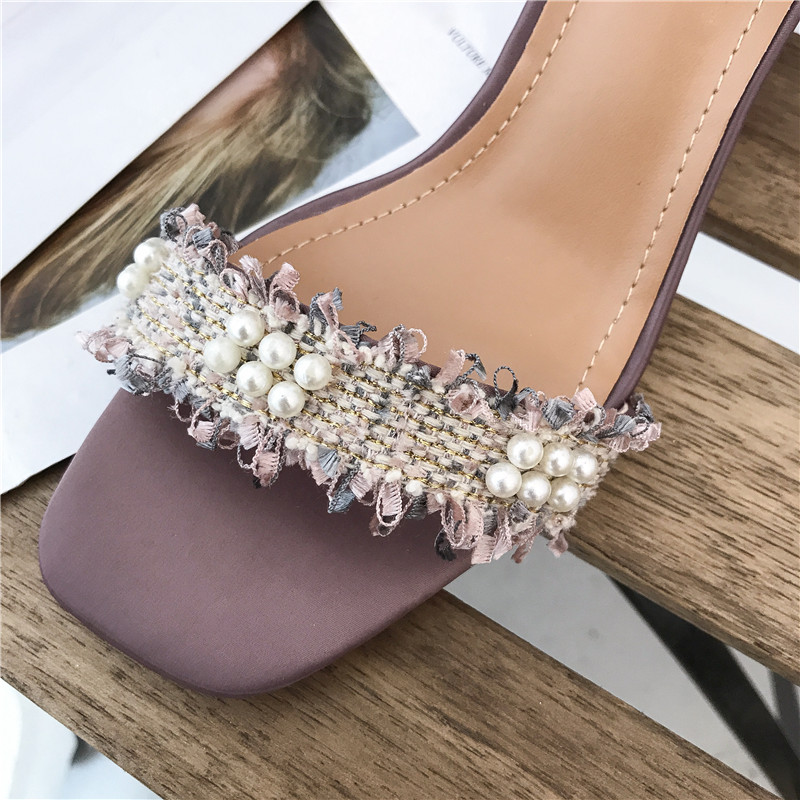 Fashion 2019 Shoes Women Open Toe Sandals Women Summer Shoes Flower Sweet Style High Heels Sandals Heeled Ankle Strap Sandals in High Heels from Shoes