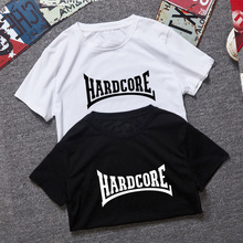 Europe Size XXL Hardcore T-shirt Men Fashion Hardcore T shirt Cool Fun Hardcore Tshirts