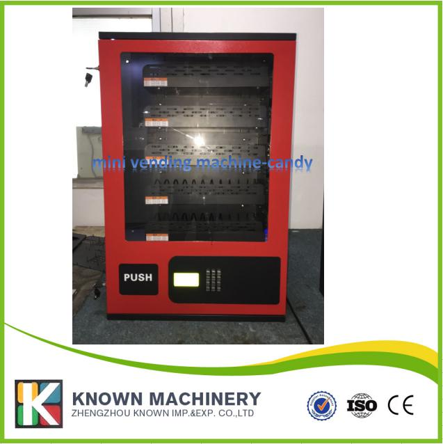 Small snack /candy coffee vending machine,condoms candy dispenser with coin acceptor with cheaper price small cigarette box vending machine bjy b50 with light box