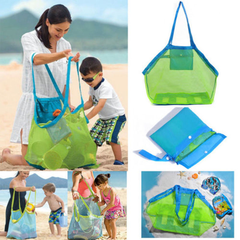 2019 NEW BRAND FASHION LARGE MESH BAGS CHILDREN TOYS BEACH SAND AWAY SHOULDER STORAGE NET BAGS MODERN
