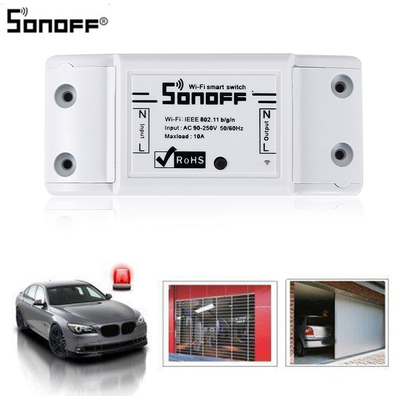 Image 3 - Sonoff Basic Wifi Switch DIY Wireless Remote Domotica Light Smart Home Automation Relay Module Controller Work with Alexa-in Home Automation Modules from Consumer Electronics