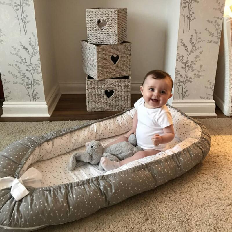 Baby Nest Bed 100% Cotton Bionic Bed Portable Portable Removable Baby Bed Cradle Baby Separator Bed  Toddler Size Nest Baby Care