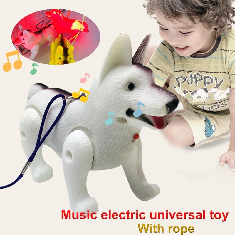 2019 Fashion German Shepherd Plastic LED Electric Dog For Kids Drop Shipping
