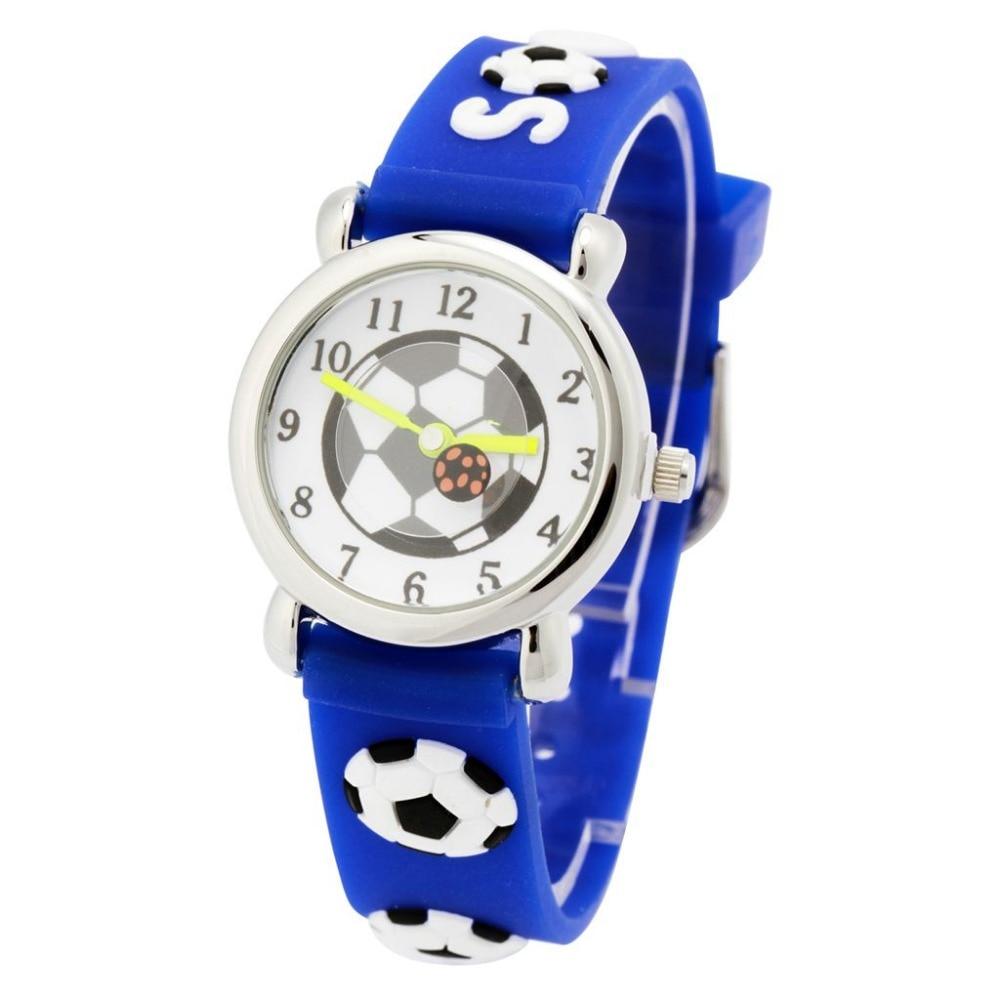 Children silicone watch Brand Quartz Wrist Watch Baby For Girls Boys Waterproof Kid Watches Football Fashion