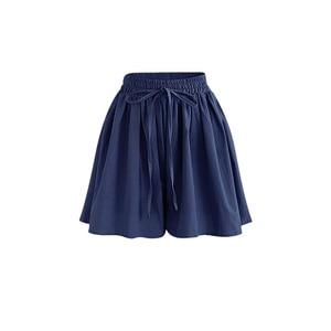 Image 5 - Summer Women Shorts High Waist Loose Chiffon Shorts Plus Size 6XL Female Slacks Large Size Shorts 8001