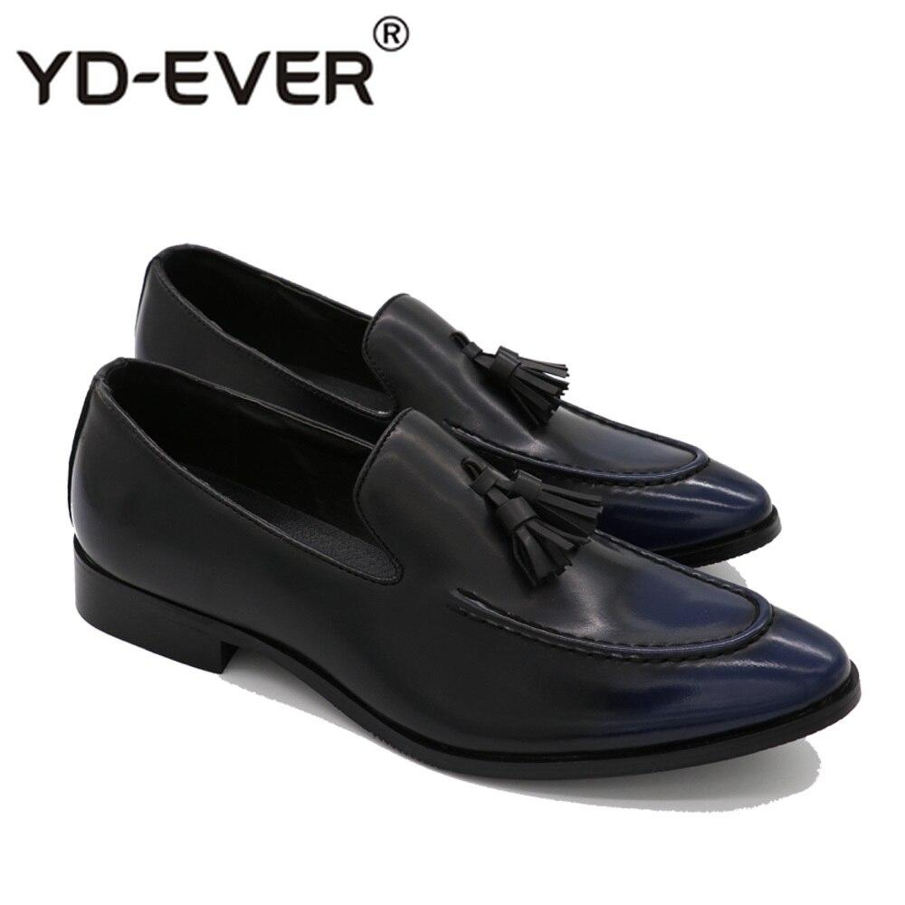2c843be1bc Mocasines Plana Boda ever Navy Yd La Cuero Marca Casuales negro Los De rojo  Oxford Zapatos Hombre Hombres Iv5vwqp