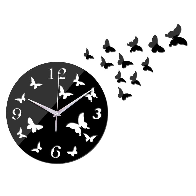 New Wall Clock Modern Design Acrylic Mirror Abstract Quartz Watch Living Room Reloj De Pared Large Decorative Wall Clocks