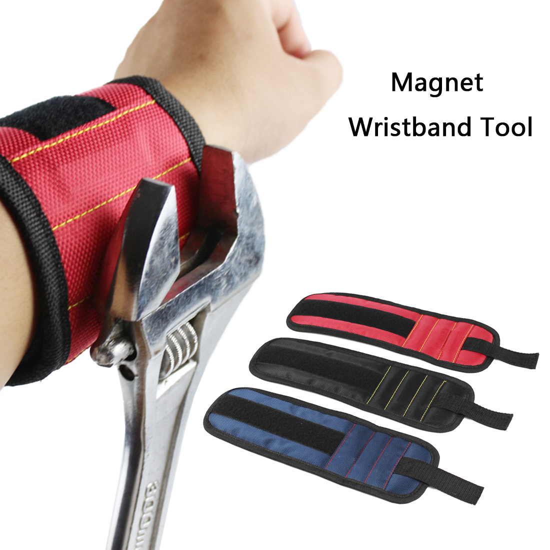 Storage Bag Magnetic Wrist Support Band With Strong Magnets For Holding Screws Nail Bracelet Belt Support Chuck Sports Tool