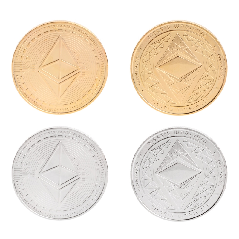 2018 Neue Gedenkmünze Btc Sammlung Kunst Legierung Nachahmung Ethereum Eth Bitcoin Geschenke #20/29l