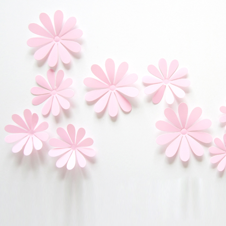 ᑐ12 unids/set PVC flor 3D Adhesivos de pared Decoración para el ...