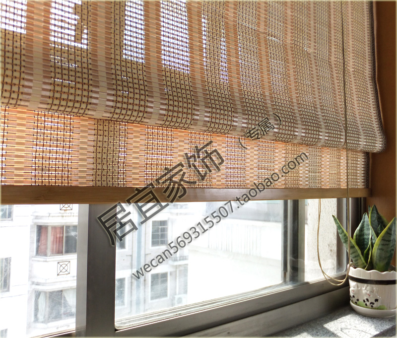 Curtain For Balcony: Bamboo Curtain Folding Balcony Window Curtain Roller