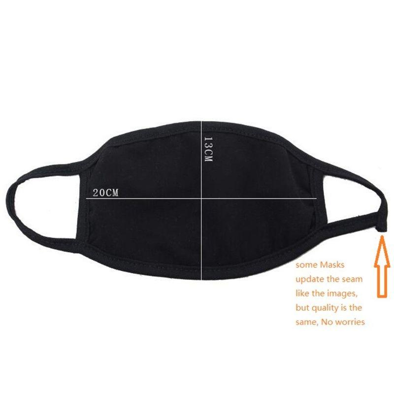 Wholesale 5pcs/10pcs Unisex Black Mouth Mask Washable Cotton Anti Dust Mouth Mask Protective Reusable 3 Layers