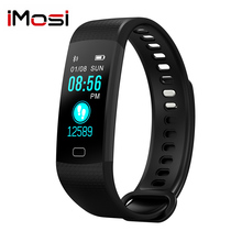 Imosi Smart Band Y5 Heart Rate Blood Pressure Monitor High Brightness Colorful Screen Bracelet Wristband Notification