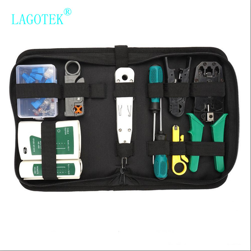 RJ45 RJ11 RJ12 CAT5 CAT5e Portable LAN Network Repair Tool Kit Utp Cable Tester AND Plier Crimp Crimper Plug Clamp PC