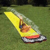 4.8 м гигантский Surf 'n слайд ПВХ игровой центр водная горка для Для детей, на лето весело дворе открытый бассейн детей Игрушечные лошадки Бассе...