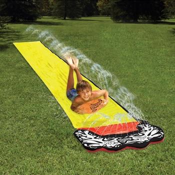 4,8 m gigante Surf y tobogán acuático divertido césped toboganes acuáticos piscinas para niños verano PVC Juegos Centro patio trasero al aire libre juguetes para adultos y niños