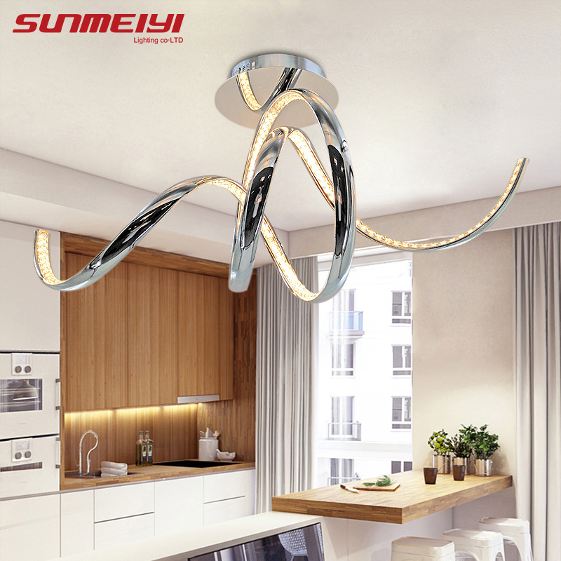 Modern LED Crystal Aluminum Ceiling Lights plafonnier led Living Room Kitchen Bedroom Ceiling Home Lighting luminaria цена