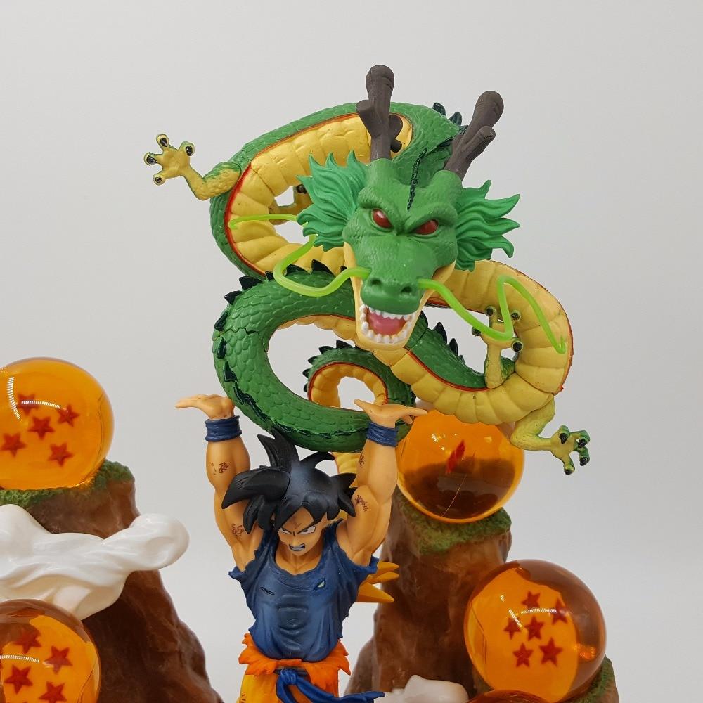 Dragon Ball Z Son Goku Shenlong Mountain Anime Dragon Ball Super PVC Action Figures Call Out Shenron Toy Gift 1