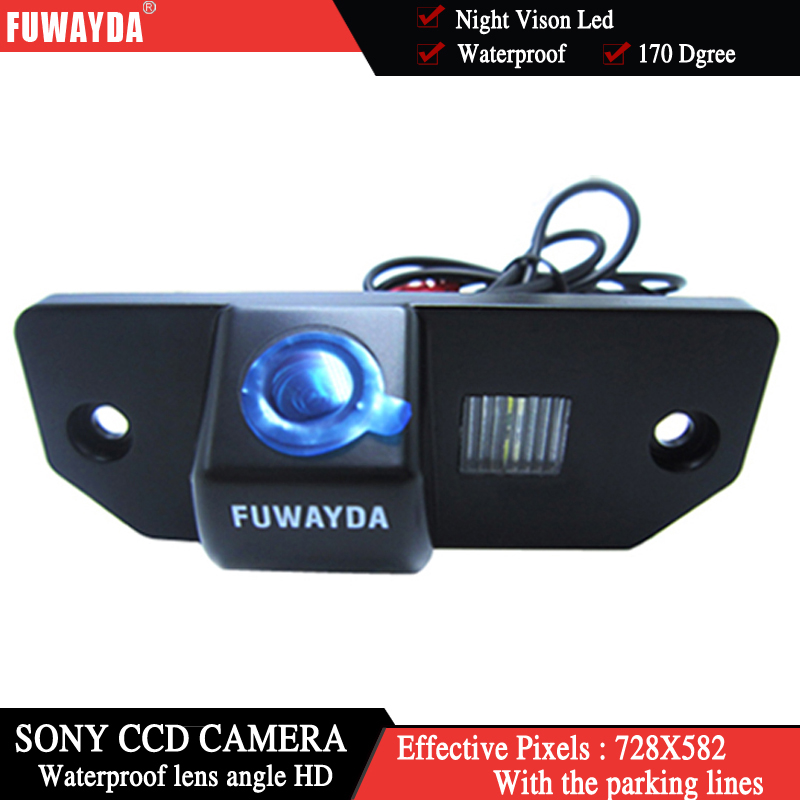 FUWAYDA SONY CCD HD Car Rear View Reverse Backup Color Camera Night Vision For FORD FOCUS SEDAN (3 Carriages) Ford C-max MONDEO