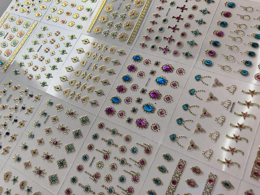COEURS feuille autocollante Craft strass Strass gemmes bâton sur cristaux