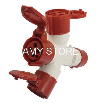 AC 380-415V 16A Splash Proof 3P+E Multiple-outlet IEC309-2 Industrial Socket все цены