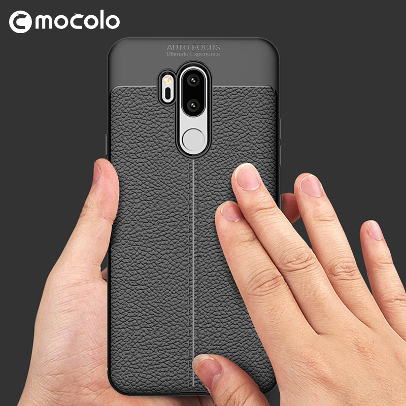 cc6f2c5cac5 For LG G7 Case 6.1 inch Luxury Ultra Thin Shockproof Soft TPU Leather Phone  Cases For LG G7 Coque Fundas with a Tempered Glass-in Half-wrapped Case  from ...