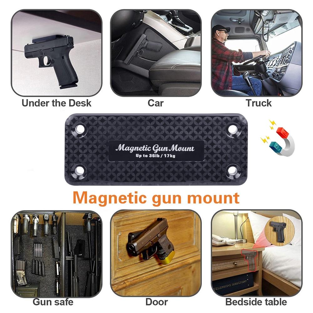 1 pacote 36lbs pistola rifle escondido seguro magnético titular arma coldre ímã para carro sob a mesa veículo ferramenta segura navio livre Coldres     - title=