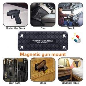 Image 5 - 1X pistolet karabin polowanie ukryty magnetyczny uchwyt pistoletu kabura pistolet magnes do samochodu pod stołem nocna rama nośna 17 KG