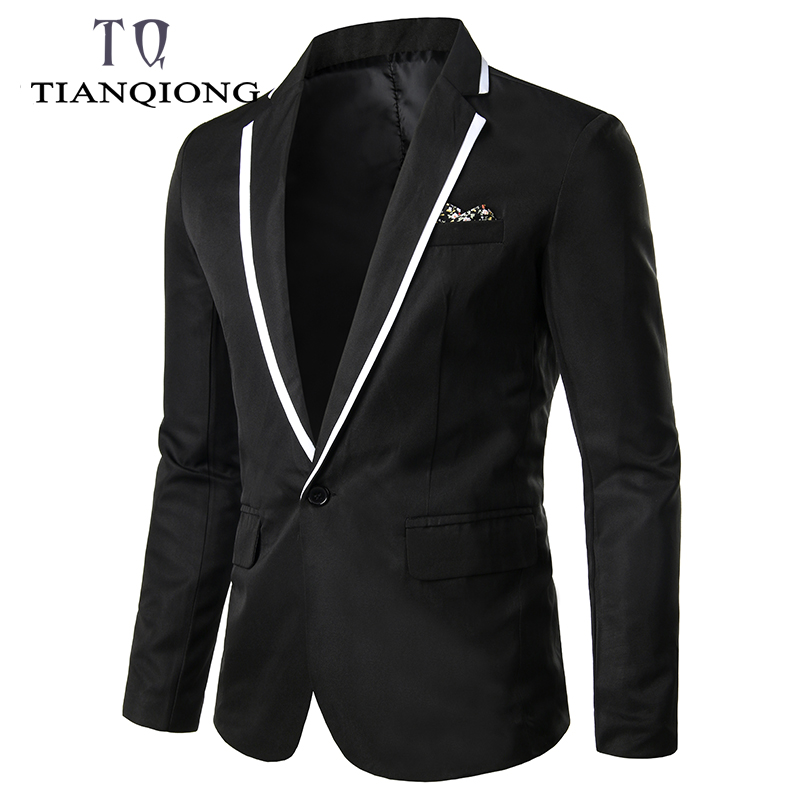 NEW Men Blazers 2019 Stylish Men's Casual Slim Fit Formal Single Button Suit Formal Blazer Coat Men Jacket Tops Suit Jackets