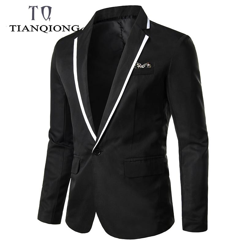 NEW Men Blazers 2019 Stylish Men's Casual Slim Fit Formal Single Button Suit Formal Blazer Coat Men Jacket Tops Suit Jackets