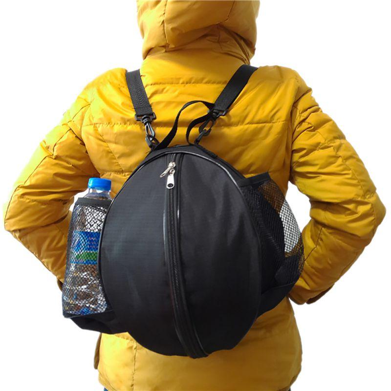 Круглая Сумка для мячей, рюкзак для баскетбола, волейбола, футбола, регулируемый наплечный ремень, сумки для хранения-0