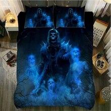 Fanaijia 3d сахарный череп постельного белья king size череп постельное белье кровать bedline twin кровать устанавливает размер queen кашне комплекты