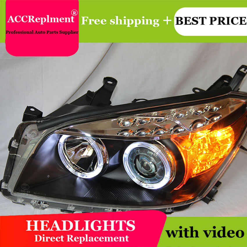 Car Styling LED Head Lamp for Toyota rav4 headlights 2009-13 Toyota rav4 led headlight led drl H7 hid Q5 Bi-Xenon Lens low beam yeats 1400lm 24w led fog lamp high beam low beam 560lm drl case for toyota highlander 2009 11 2014 automatic light sensitive