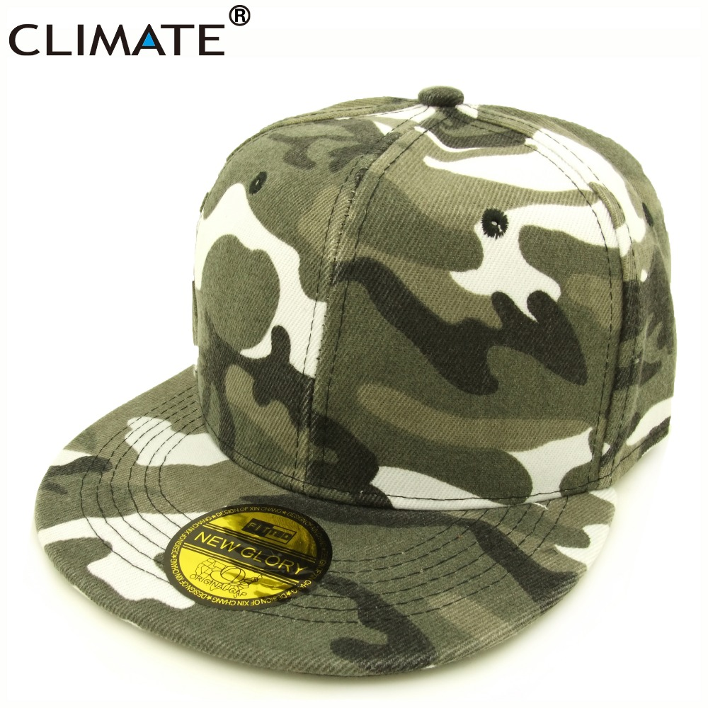 CLIMATE Youth Dancer Hip Hop Camouflag Snapback Caps Unisex Army Men Women Adjustable Cool Camouflag Baseball Snapback Caps Hat climate new nice women pure solid color heavy washed flat top caps lady red cool adult adjustable army hat cap for