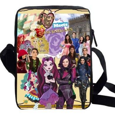 e83b4d7456 women custom made travel casual shoulder bag girls boys women mal crossbody  bags anime cartoon TV show Mal Carlos Evie Jay-in School Bags from Luggage  ...