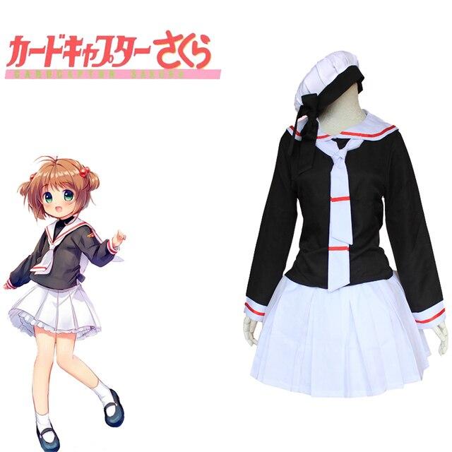 Card Captor Sakura Kinomoto Sakura Costumes Japanese Anime Cosplay ...