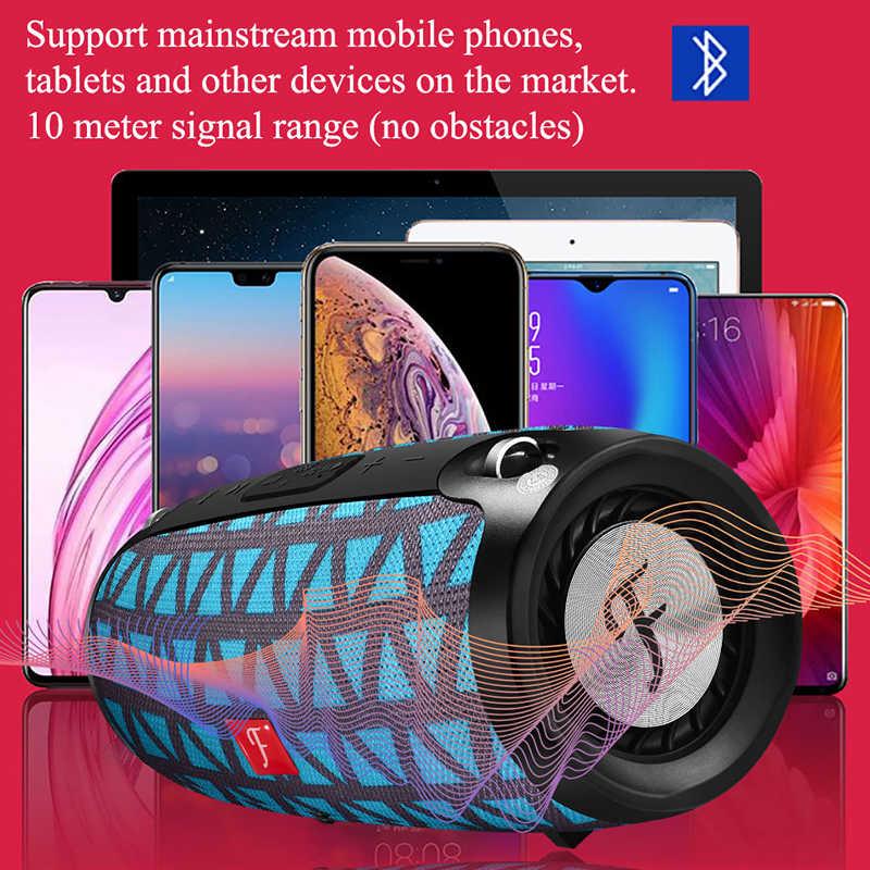 Głośnik Bluetooth 20w bas radiowy wodoodporna przenośna zewnętrzna kolumna bezprzewodowa obsługa głośników karta TF Radio FM wejście AUX