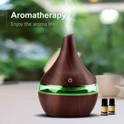 300 мл USB Электрический освежитель воздуха Дерево ультразвуковой увлажнитель воздуха эфирные масла Ароматерапия Прохладный тумана для дома