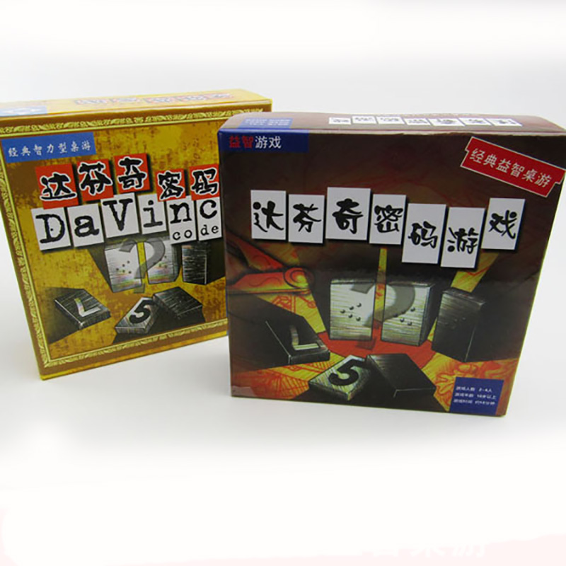 The Da Vinci Code Board Game 2-4 Players For Family/Party/Gift Best Gift Funny Digital Game Entertainment Supplies