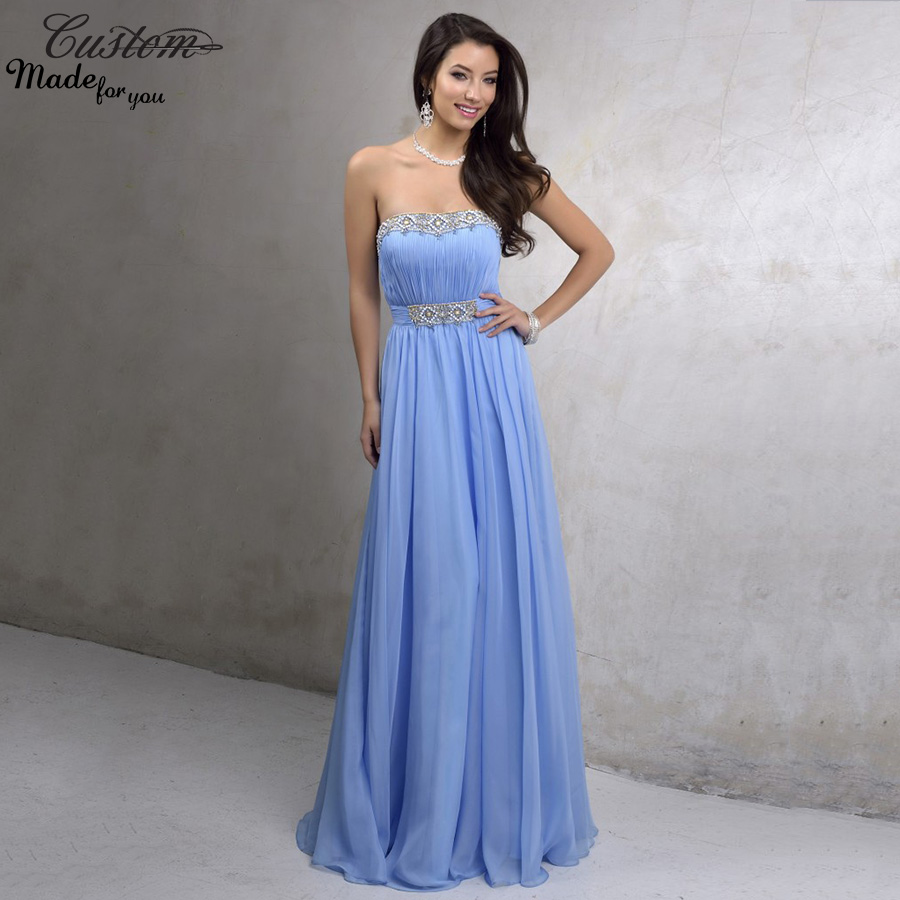 Online get cheap long evening dress pearls beaded plus size 2016 light baby blue maternity evening dress formal high waist crystals plus size chiffon long prom ombrellifo Image collections