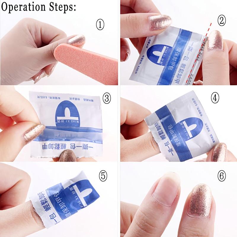 Hot 10pcs Pack Plastic Nail Tools Acrylic Art Soak Off Uv Gel Polish Remover Wrap Clip Cap Nails For