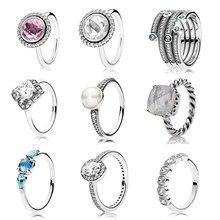 2016 colección De Navidad anillo de plata de ley 925 anillos para las mujeres Anillos anillos de plata fina de regalo Memnon joyería anillos set