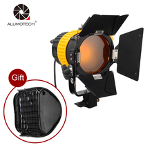 ALUMOTECH Compact 5500/3200K 80W LED Spotlight Continuous Light+ V-mount+Bowen Mount Softbox For Studio Photography Dimming Lamp