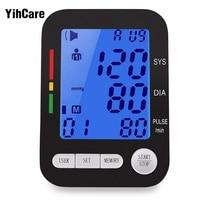 YihCare Digital LCD Upper Arm Blood Pressure Pulse Monitors Portable Cuff Measurement Automatic Tonometer Sphygmomanometer