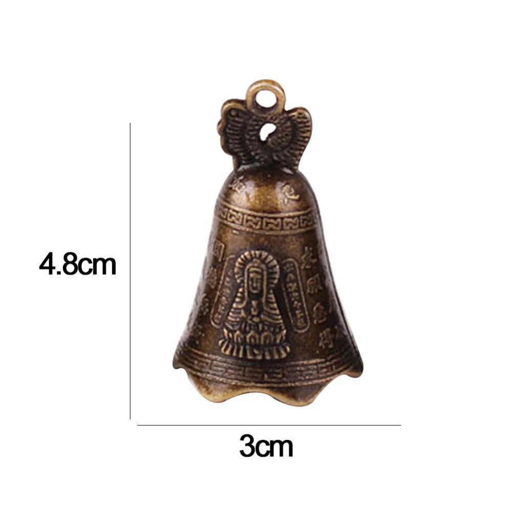 עתיק פעמון סין של מיני פליז נחושת פיסול להתפלל בודהה פנג שואי פעמון הזמנה בודהיזם Guanyin פעמון
